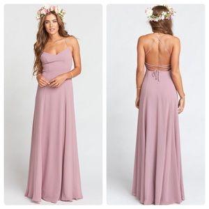 SMYMM Godshaw Goddess Gown Antique Rose Chiffon